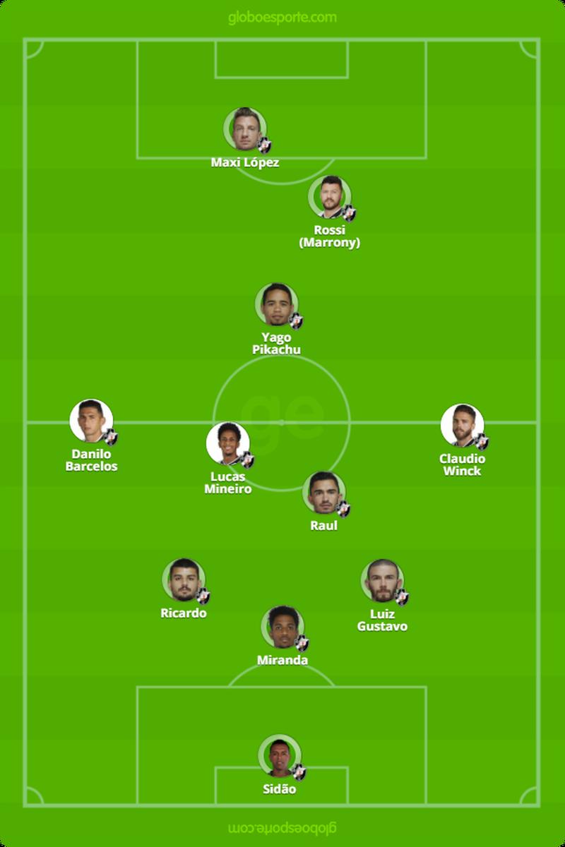 Provável escalação do Vasco para o jogo contra o Santos