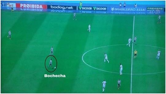 Bochecha também atuou mais na base da jogada