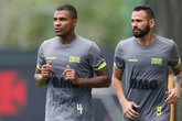 Breno e Leandro Castan estão recuperados de suas lesões e disputaram coletivo no Vasco (Foto: Rafael Ribeiro/Vasco.com.br)