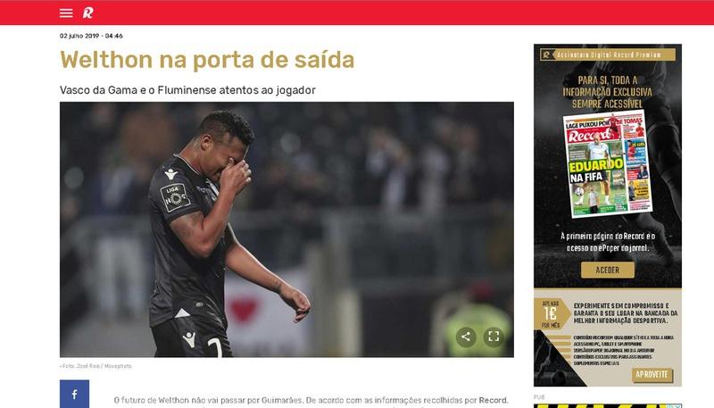 Edição da última terça-feira do Record afirma que atacante negociaria com o Vasco