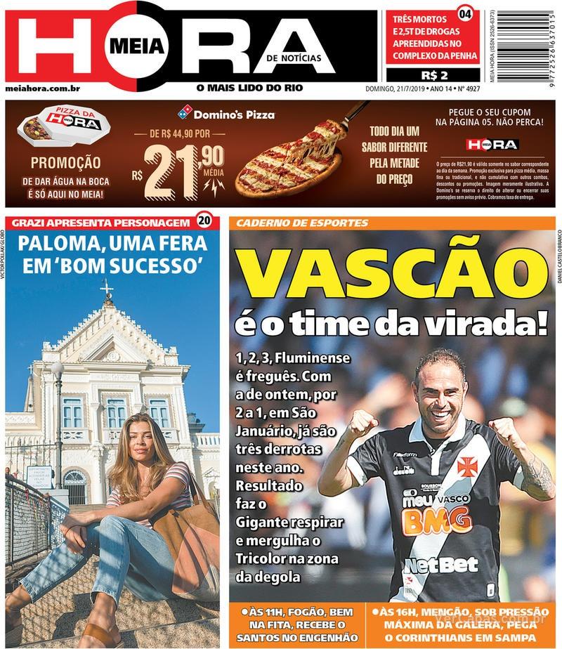 Jornal Meia Hora - 21 de julho