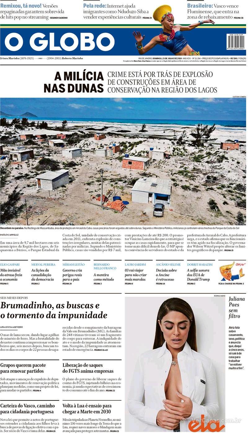 O Globo / 21 de Julho