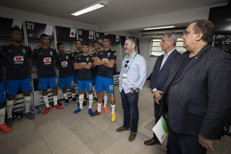 Presidente da CBF no vestiário de São Januário