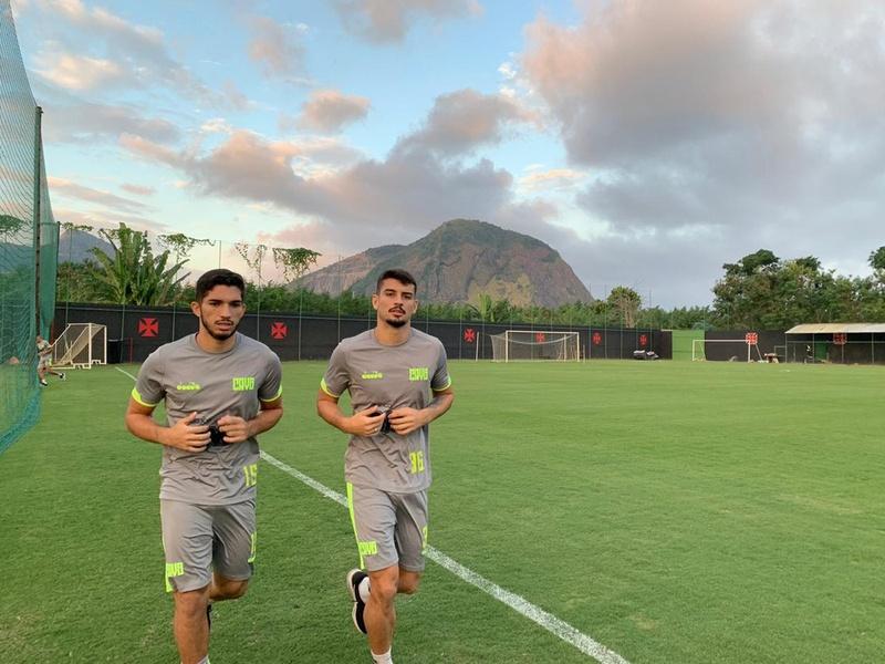 Andrey e Ricardo Graça no treino do Vasco