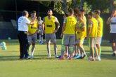 Luxemburgo conversa com os jogadores antes do treino do Vasco (Foto: Felippe Costa)