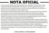 Nota da Força Jovem Vasco (Foto: Twitter Força Jovem Vasco / @fjv_oficial)