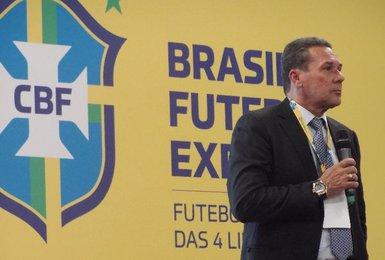Luxemburgo durante o Brasil Futebol Expo