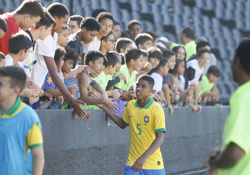 Andrey atuando pela Seleção Brasileira em São Januário