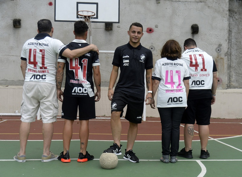 Bruno Gomes e sua família