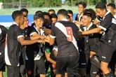 Sub-15: Jogadores comemoram um dos gols na vitória sobre o Flamengo (Foto: Valdir Santiago/Divulgação)