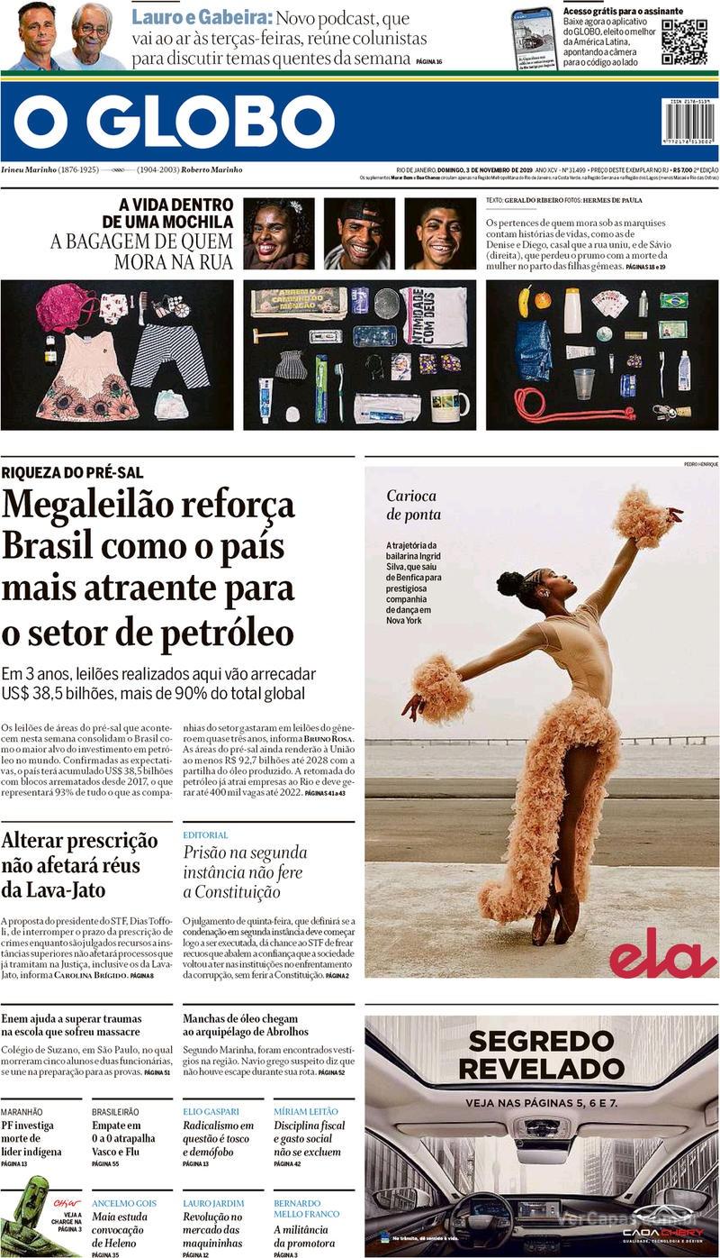 O Globo / 3 de novembro