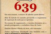 639 adeões (Foto: Twitter Nova Resposta Historica/Reprodução)