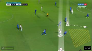 Pikachu, Rossi e Guarín foram os jogadores do Vasco que mais trocaram passes entre si, 19 ao todo