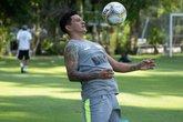 Germán Cano mostrou qualidade em treino de finalizações (Foto: Carlos Gregório Jr./Vasco.com.br)