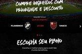 Site do Flamengo (Foto: Site Oficial do Flamengo/Reprodução)