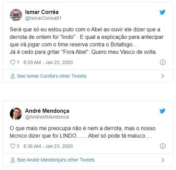 Tweets sobre Abel