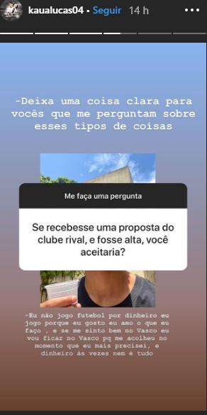 Resposta de Kauã Lucas