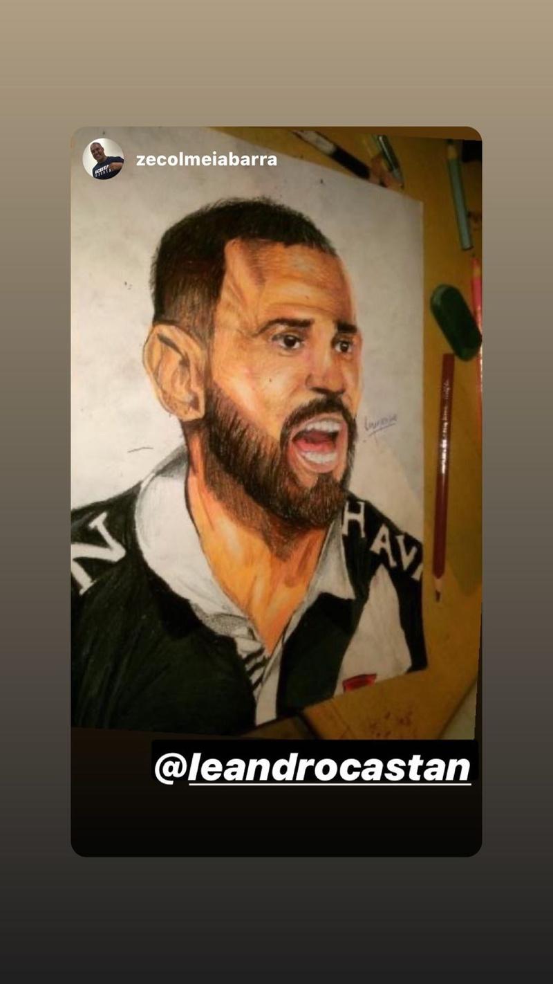 Castan é homenageado por artista