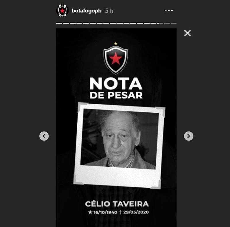 Nota de pesar do Botafogo-PB