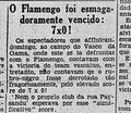 Vasco 7 x 0 Flamengo, 1931