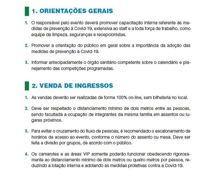 Regras de ouro para jogos com público no Rio de Janeiro 1