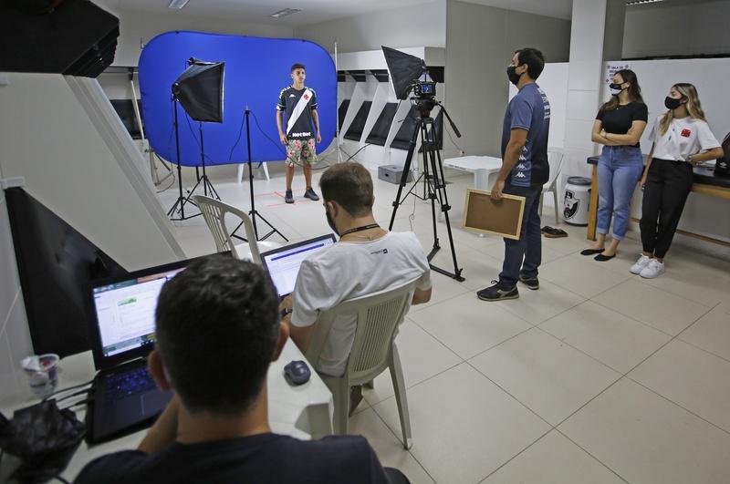 Estúdio montado para a realização do Media Day