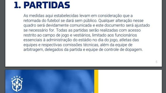 Item 1 da diretriz técnica do Brasileirão
