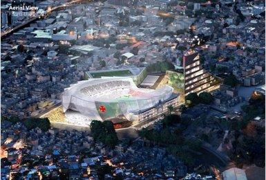 Projeto desenvolvido pela Populous sobre São Januário