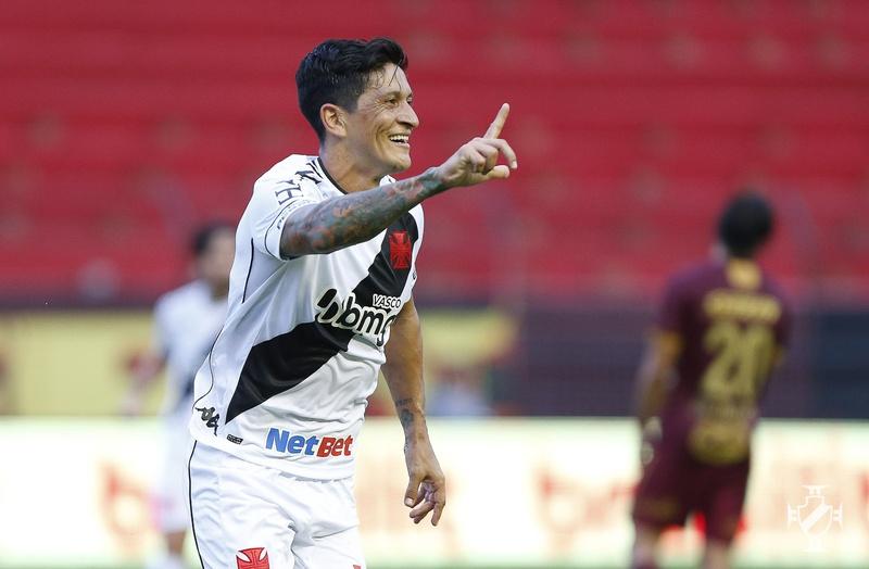 Germán Cano comemora gol diante do Sport