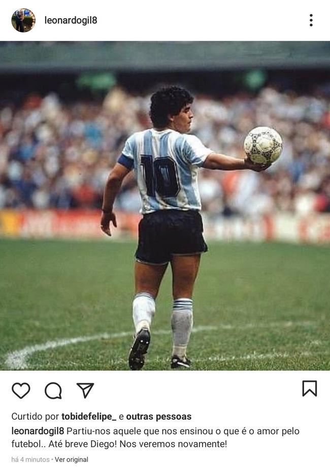 Leo Gil lamenta morte de Maradona