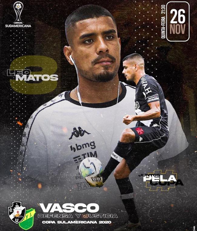 Léo Matos destaca Defensa y Justicia x Vasco