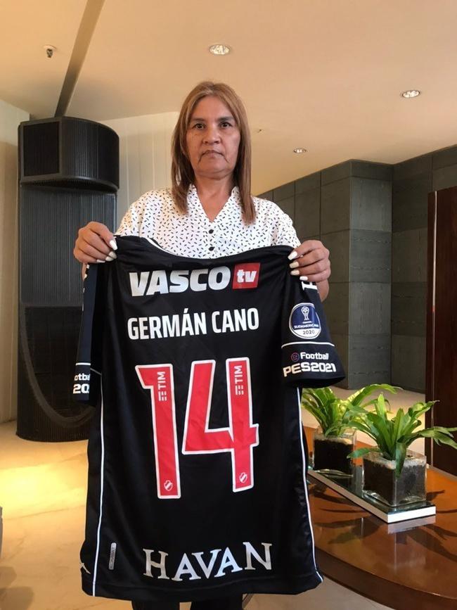Mãe de Germán Cano