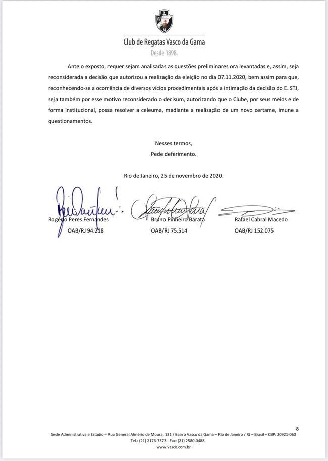 Petição solicitando nova eleição