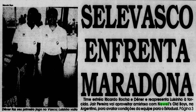 """SeleVasco enfrenta Maradona"""