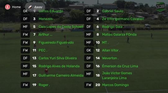Sub-20: Internacional x Vasco