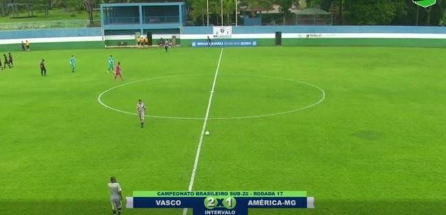 Sub-20: Vasco x América-MG