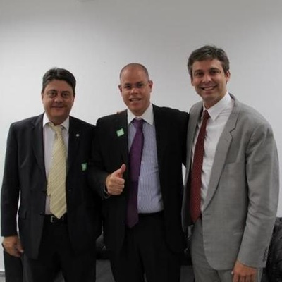 Wadih Damous, Roberto Monteiro - ex-presidente do Deliberativo do Vasco, e Lindbergh em 2013