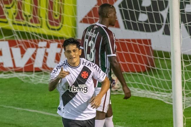Germán Cano comemora gol contra o Fluminense