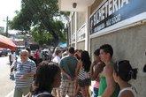 Fila de ingressos (Foto: Globoesporte.com)