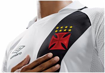 Camisa branca do Vasco