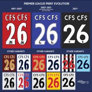 Fontes usadas pela Premier League na história