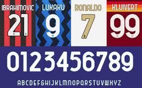 Fontes usadas pela Liga italiana desde 2020