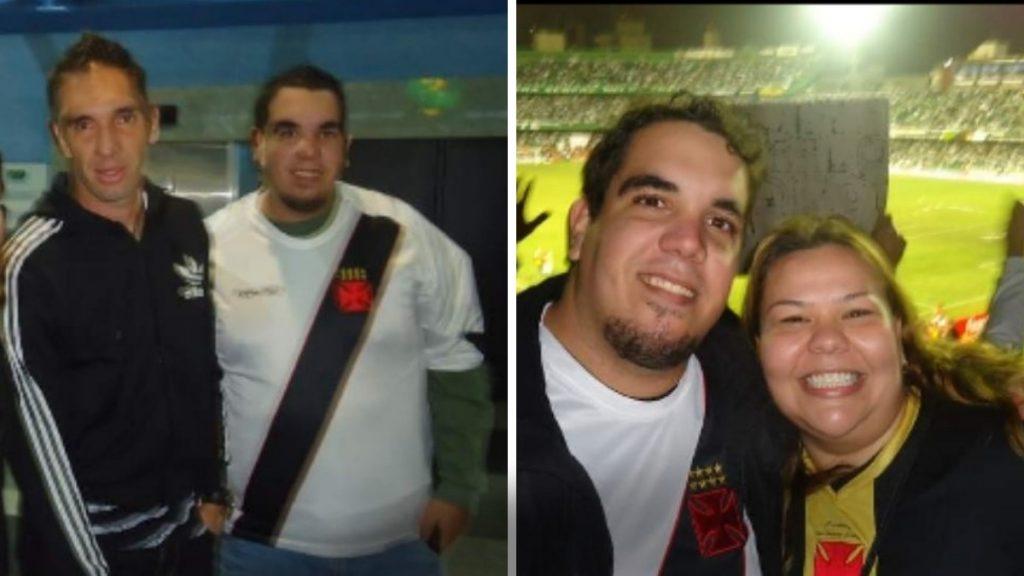 Renato com Fernando Prass e com a irmã, Renata.